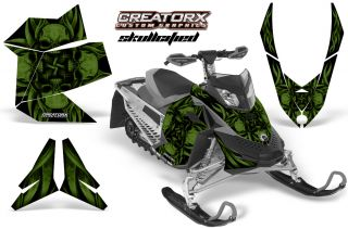 Ski Doo Rev XP Snowmobile Sled Graphics Kit Decal Sfgfa