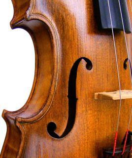 Fine 19th C Antique German American Violin Labeled Deep Sound Power Listen