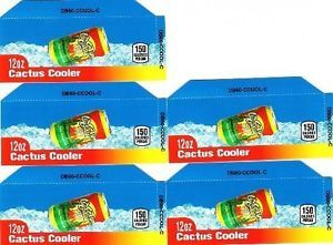 Cactus Cooler 12oz Can 5 Small Vending Machine Calories Flavor Labels