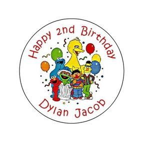 Personalized Sesame Street Stickers Labels Birthday Party Favors 1st First Elmo