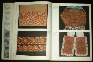 Huge Book Slovak Folk Embroidery Pattern Ethnic Costume