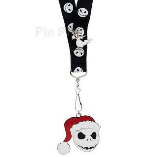 Disney Pin Lanyard Set Nightmare Before Christmas Jack Skellington Zero Pin