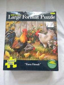 300 Piece Large Format Jigsaw Puzzle by Karmin Inter Farm Friends Chickens