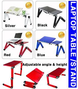Portable Folding Laptop Table Desk Stand Bed Tray for Notebook Tablet PC iPad