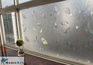 "Decorative Privacy 3D Laser Static Glass Window Film Abstract Geometry 35""GW 034"