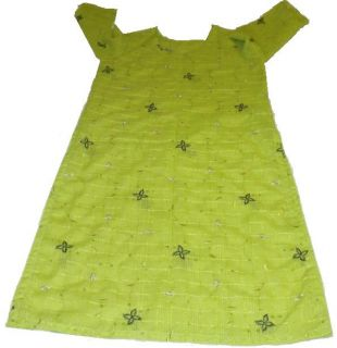 Lime Green Silk Pakistani Salwar Kameez Small Size Sitara Work Thread Embroidery