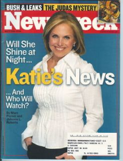 2006 Newsweek Magazine Katie Couric CBS Evening News