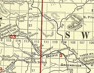 Wyoming Railroad Maps Time Table Schedules Road Maps 1872 1934 on DVD