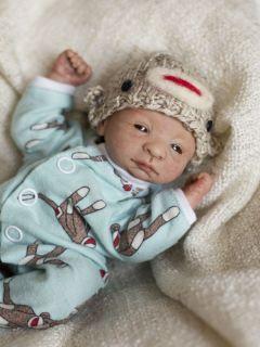 OOAK Hand Sculpted Newborn Baby Boy Doll Weebabiesnursery