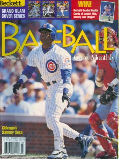 1999 Beckett Baseball Magazine Sammy Sosa Cubs