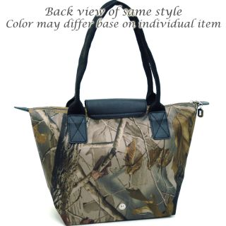 Realtree ® Camouflage Tote Bag w Flapover Top Snap Closure Camouflage Pink