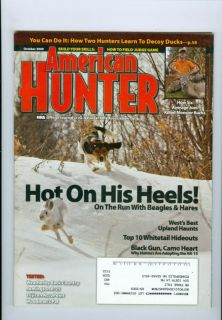 2009 American Hunter NRA Magazine Rabbit Hunting with Beagles Whitetail Hideout