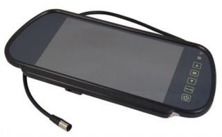 """7"""" TFT LCD Car Rearview Mirror Monitor Rear View Backup Camera System Key Touch"""