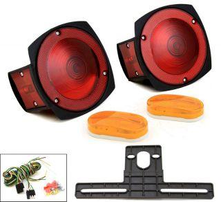 12V Multi Function Trailer Light Kit Boat Auto Truck Side Markers