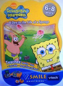Nickelodeon Spongebob Squarepants V Smile Smartridge Vtech Spelling Math Logic