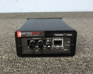 Metrobility Twister 2643 10 100Mbps Copper Fiber Media Converter