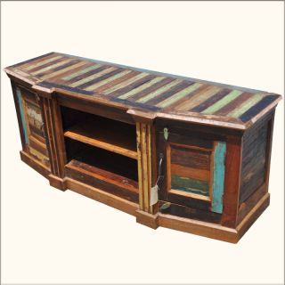 Old Reclaimed Wood Storage Cabinet DVD Shelf Entertainment Media Center TV Stand