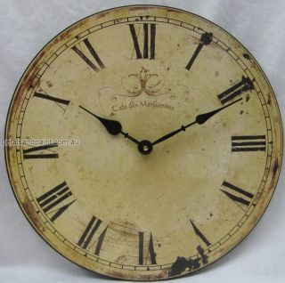 33cm Country Rustic French Provincial Cafe Des Marguerites Wall Clock France NIP