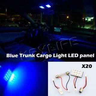 20 x 12SMD 3528 Ford Blue Light Panel BA9S T10 Festoon 12LED Dome Interior Lamp