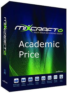 Mixcraft 6 Multi Track Recording Studio Software Educational Price Acoustica