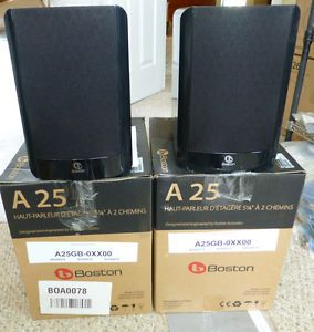 Boston Acoustics A25 Main Stereo Speakers Pair Bookshelf