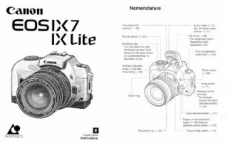 Canon EOS IX 7 IX7 IX Lite Instruction Manual