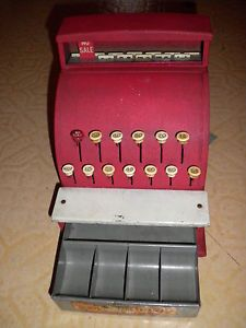 Vintage Tom Thumb Toy Cash Register Pat No 1906361 2458850 2458863