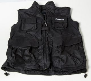 Canon Vest Size XL L Fit 5D Mark III II 60D 7D New Kit USA Jacket Photography