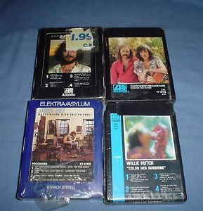 Lot 4 8 Track Tapes SEALED Willie Hutch Jean Luc Ponty Andrew Gold Cartridges