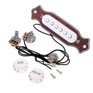 Sound Hole Electric Guitar Magnetic Pickup Folk Acoustic Red Chelonian Shell