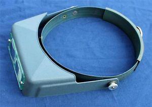 Donegan Da 7 Optivisor Optical Glass Binocular Magnifier w Extra Lenses Box