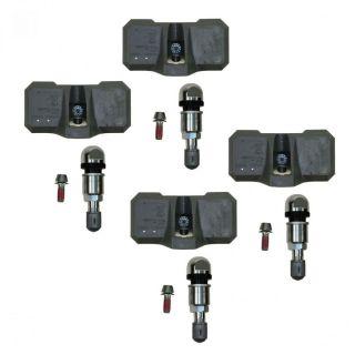 Chevy GMC Truck Tire Pressure Sensor Monitoring System TPMS 4 Piece Set Kit