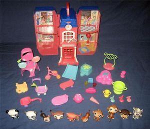 Littlest Pet Shop LPS Lot School Animal Play House Playhouse Toys Custom Set