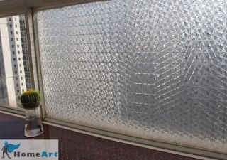 "Decorative Privacy 3D Laser Static Glass Window Film Ice Flower 35"" GW 032"
