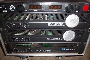 Details about PEAVEY PV1500 POWER AMP AMPLIFIER 2 x 500 WATT STEREO