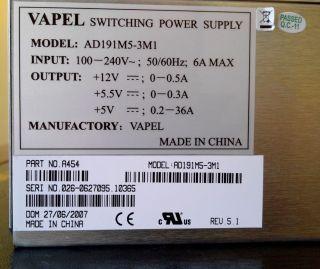 Adva Optical Networking Vapel Switching Power Supply AD191M5 3M1 for Adva Switch
