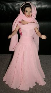 """Franklin Mint Elizabeth Taylor Doll """"Giant"""" Luxurious Pink Gown Scarf Only"""