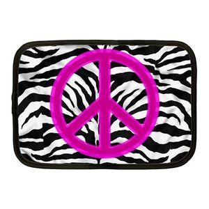 Zebra Peace Sign Tablet Netbook Case Sleeve 8 9 10""