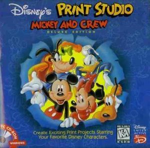 Disney's Print Studio Mickey and Crew Deluxe Edition PC CD Cartoon Characters