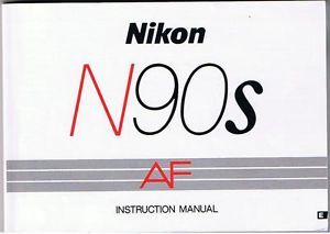 Nikon N90s AF Instruction Manual Original 147 Pages