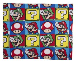 Nintendo Super Mario Brothers Luigi Fleece Blanket 120x150cm Day Cover