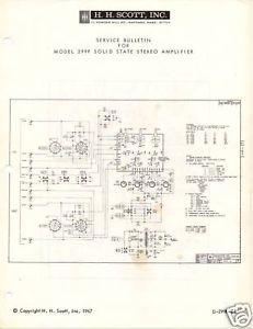 Original Service Manual Scott 299F Power Amp
