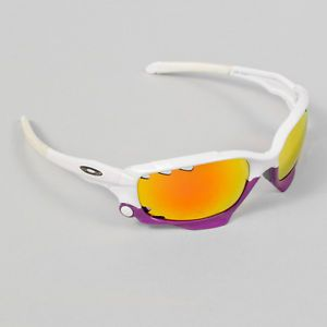 Oakley Jawbone Sunglasses Pearl White Purple Frame Fire Iridium Lenses Optics