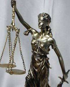 "New 12"" Lady Scales of Justice Lawyer Statue Law Office Gift Judge Attorney"