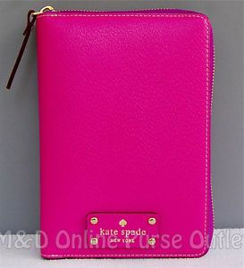 Kate Spade Wellesley Leather Large Zip Around Personal Planner Organizer Agenda