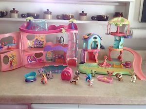 Littlest Pet Shop Cozy Care Adoption Center Playground Pets and Accessories