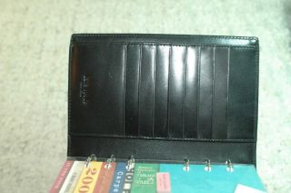 Kate Spade Elyce Nylon Satin Leather Personal Organizer Day Planner Black $195