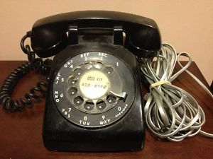 Western Electric Bell System Black Rotary Dial Phone Telephone