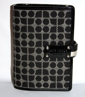 Kate Spade Classic Noel Anne Personal Planner 6 Ring Binder Sz 3 Compact Black