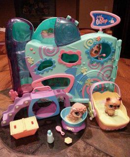 Littlest Pet Shop Lot LPS Playful Paws Pet Day Care 485 Porcupine Accessories